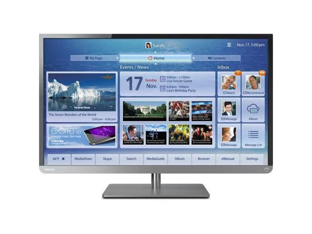 Toshiba 32L4300UB 32 Inch Clearscan 1080p, 120HZ LED, Cloud TV Thin stand