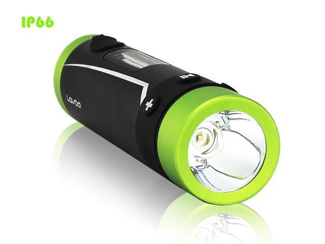LAVOD Bikeman II LFB-625C-4GB Black/Green Color IP66 MP3 loudspeaker + LED flaslight + FM radio, 3-in-1, OLED display