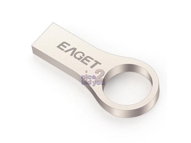 EAGET U66 USB 3.0 32GB Metal Slim Flash Drive Media Storage Waterproof Key Ring Memory Stick Pen Drives