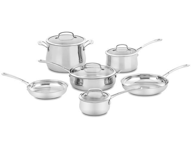 Cuisinart 44-10N Contour Stainless 10-Piece Cookware Set