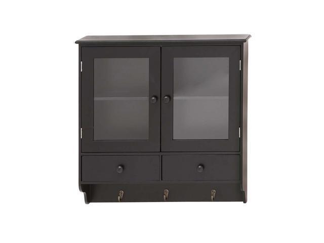 The Sleek Wood Glass Wall Cabinet