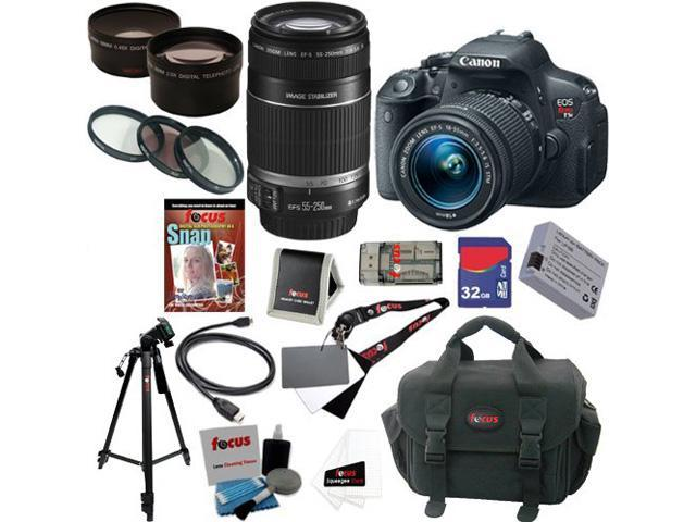 Canon t5i EOS Rebel T5i 18.0 MP CMOS Digital Camera with EF-S 18-55mm f/3.5-5.6 IS STM Zoom Lens + EF-S 55-250mm f/4.0-5.6 IS Telephoto Zoom ...