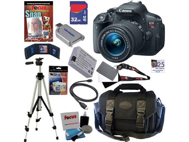 Canon t5i EOS Rebel T5i 18.0 MP CMOS Digital Camera with EF-S 18-55mm f/3.5-5.6 IS STM Zoom Lens + 11pc Bundle 32GB Best DSLR Camera ...