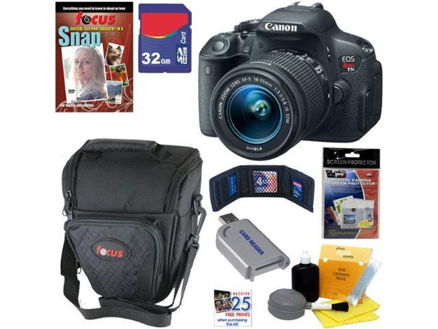 Canon t5i EOS Rebel T5i 18.0 MP CMOS Digital Camera with EF-S 18-55mm f/3.5-5.6 IS STM Zoom Lens + 7pc Bundle 32GB Best Camera Kit ...