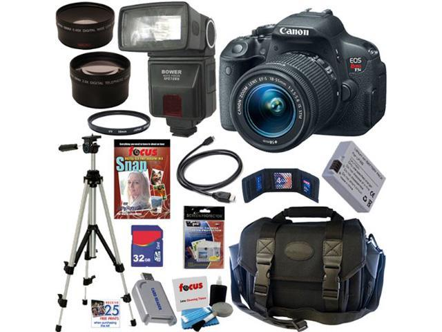 Canon t5i EOS Rebel T5i 18.0 MP CMOS Digital Camera with EF-S 18-55mm f/3.5-5.6 IS STM Zoom Lens + Automatic TTL Flash + Telephoto & ...