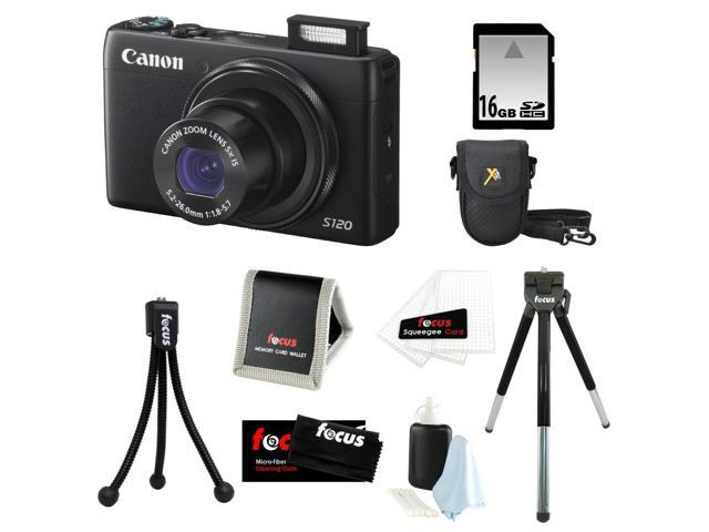 Canon PowerShot S120 12.1 MP CMOS Digital Camera Bundle with 32GB SD Memory Card + Deluxe Point & Shoot Camera Case + 8-inch Tripod and ...