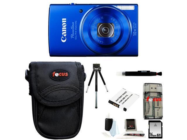 Canon PowerShot ELPH 150 IS Digital Camera + 16GB Memory Card + All in One High Speed Card Reader + Standard Medium Digital Camera Case ...