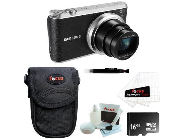 Samsung WB350F Smart Digital Camera (Black) with 16GB Accessory Kit