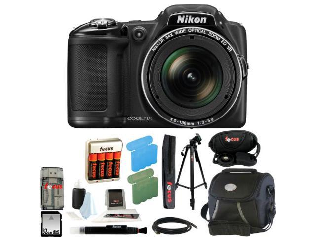 Nikon COOLPIX L830 Digital Camera (Black) with 32GB Deluxe Accessory Kit