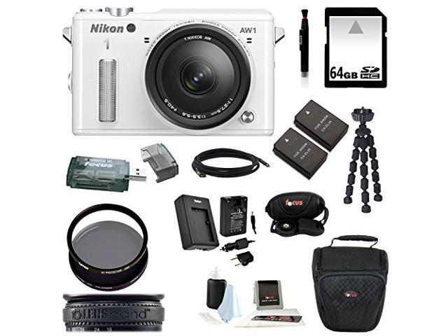 Nikon 1 AW1 14.2 MP Digital Camera with 11-27.5mm f/3.5-5.6 1 NIKKOR Lens and 64GB Best Accessory Kit