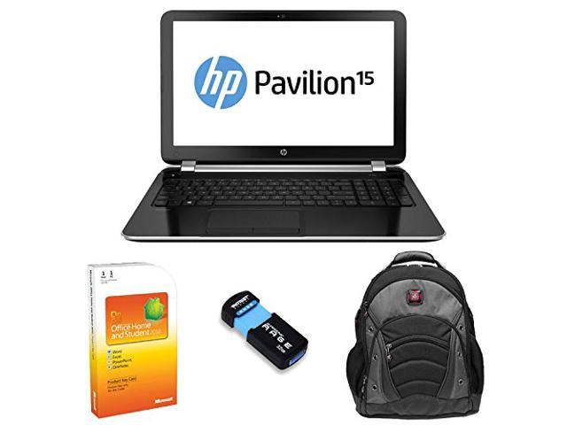 "HP Pavilion 15-n206nr AMD Quad-Core A6, 8GB, 750GB HD, DVD burner 15.6"" HD LED Windows 8.1 (64-bit) with Microsoft Office Home and Laptop ..."