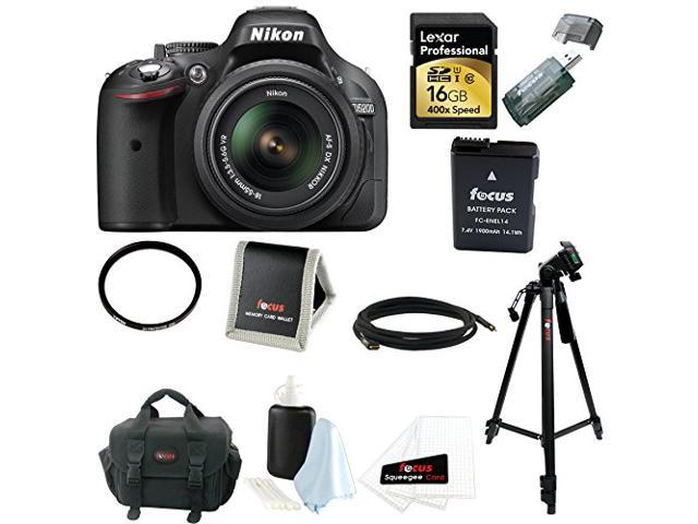 Nikon D5200 24.1 MP CMOS Digital SLR Camera (Black) with 18-55mm f/3.5-5.6G AF-S DX VR Lens + Lexar Professional 16GB SDHC Card with 400x Speed ...