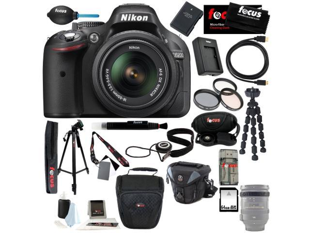 Nikon D5300 24.2 MP CMOS Digital SLR Camera with 18-140mm f/3.5-5.6G ED VR AF-S DX NIKKOR Zoom Lens (Black) + Nikon 55-300MM F4.5-5.6G ED VR ...