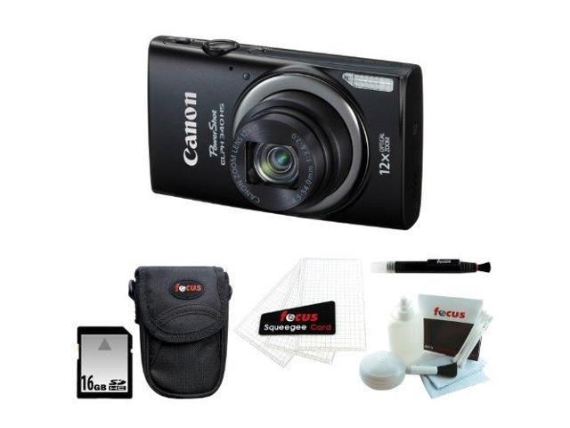 Canon PowerShot ELPH 340 HS (Black) with 16GB Accessory Kit