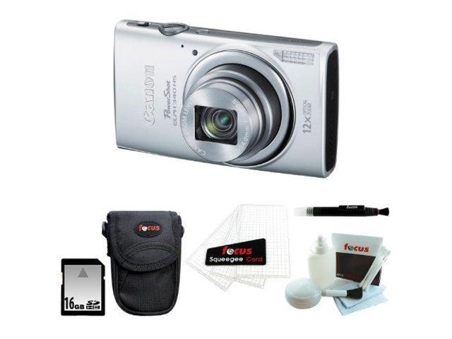 Canon PowerShot ELPH 340 HS (Silver) with 16GB Accessory Kit