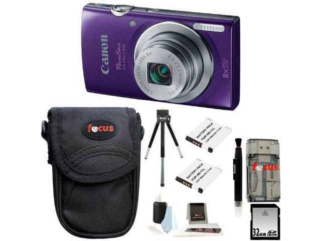 Canon PowerShot ELPH 135 (Purple) with 32GB Deluxe Accessory Kit