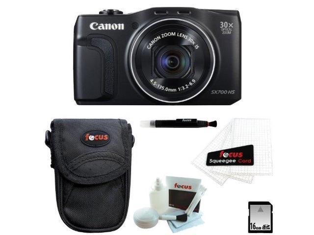 Canon SX700 PowerShot SX700 HS Digital Camera (Black) with 16GB Best Camera Kit