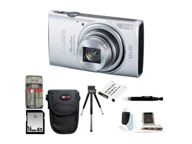 Canon PowerShot ELPH 340 HS (Silver) with 16GB Deluxe Accessory Kit