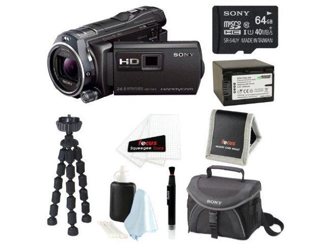 Sony HDR-PJ810/B Full HD Camcorder w/ advanced Manual Controls + 64GB Accessory Kit