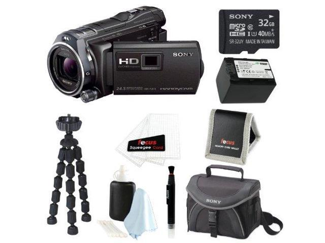 Sony HDR-PJ810/B Full HD Camcorder w/ advanced Manual Controls + 32GB Deluxe Accessory Kit