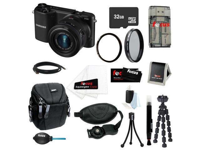 Samsung NX2000 20.3MP SMART Camera with 20-50mm Lens (Black) Bundle with 32GB SD Card + Tiffen 40.5 UV Protection Filter + HDMI to Micro Cable ...