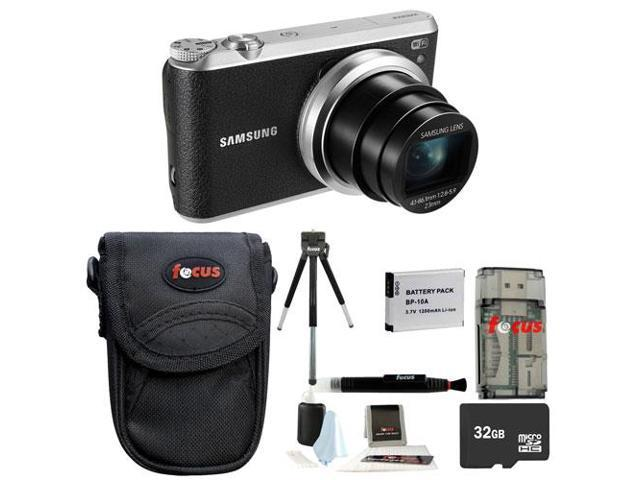 Samsung WB350F Smart Digital Camera (Black) with 32GB Deluxe Accessory Kit