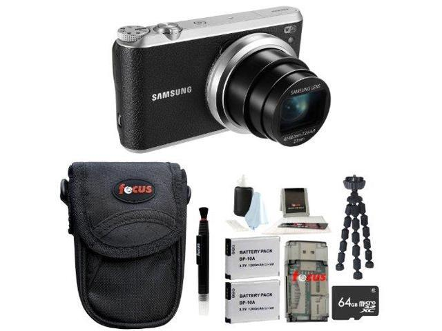 Samsung WB350F Smart Digital Camera (Black) with 64GB Deluxe Accessory Kit