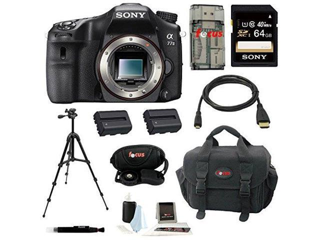 Sony a77 - A77II Digital SLR Camera (Body Only) with 64GB Deluxe Accessory Kit