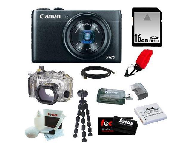 Canon S120 PowerShot S120 12.1 MP CMOS Digital Camera with 5x Optical Zoom and 1080p Full-HD Video W/ Canon Waterproof Case WP-DC51 for PowerShot ...