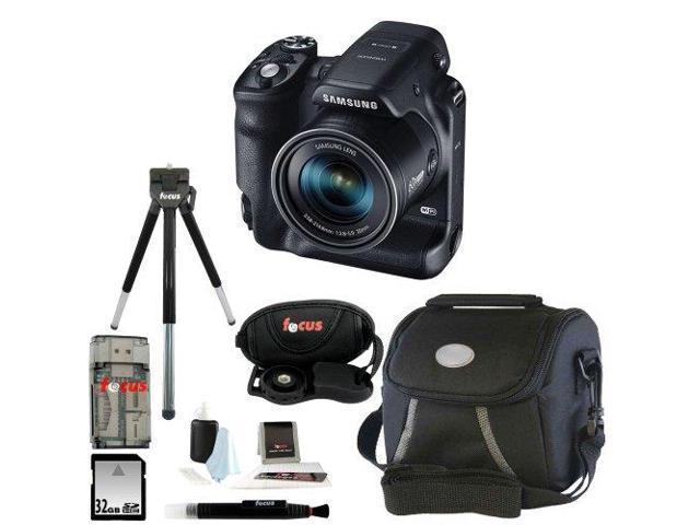 Samsung WB2200F Digital Smart Camera (Black) with 32GB Best Smart Camera Accessory Kit
