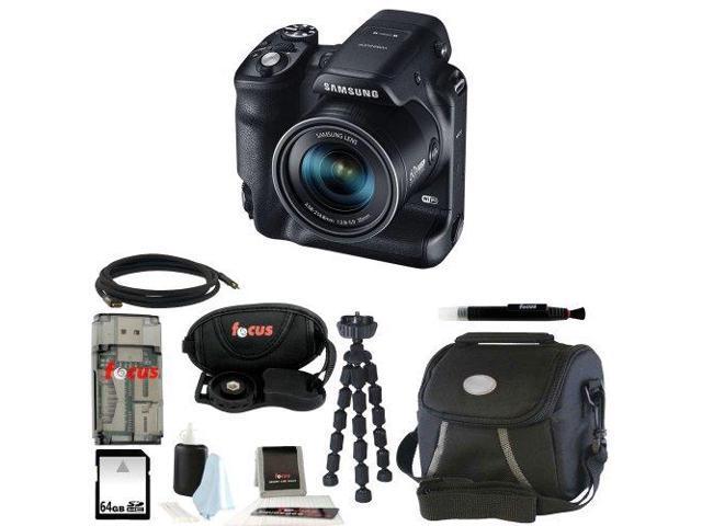 Samsung WB2200F Digital Smart Camera (Black) with 64GB Best Smart Camera Accessory Kit