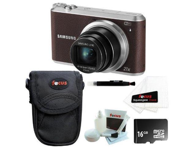 Samsung WB350F Smart Digital Camera (Brown) with 16GB Best Accessory Kit