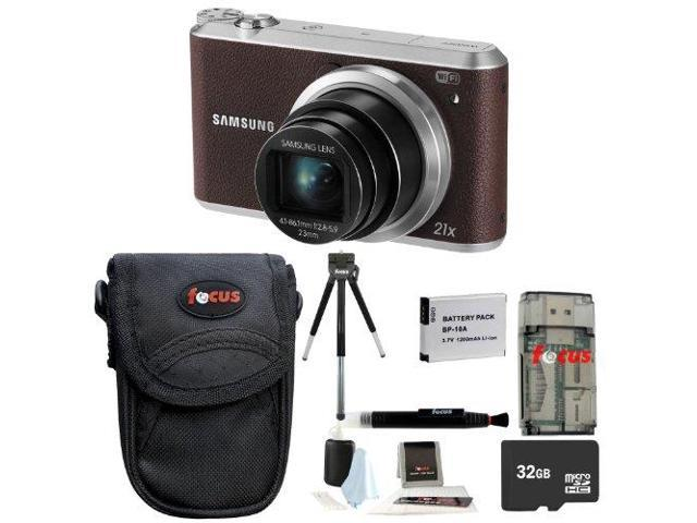 Samsung WB350F Smart Digital Camera (Brown) with 32GB Best Camera Accessory Kit