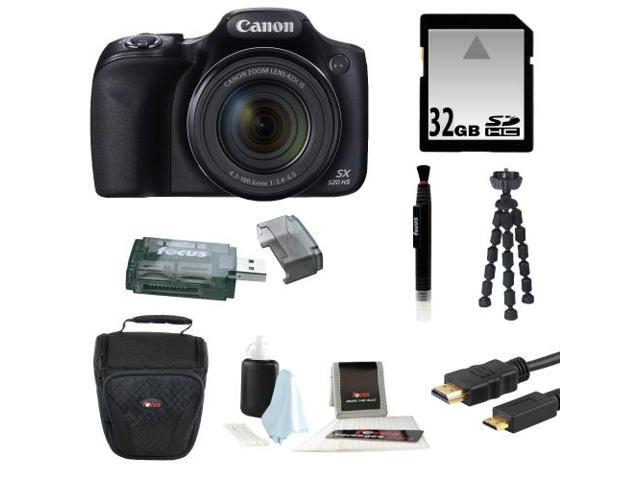 Canon Powershot SX520 HS 16.0 MP Digital Camera with 42x Optical Zoom and 1080p Full HD Video