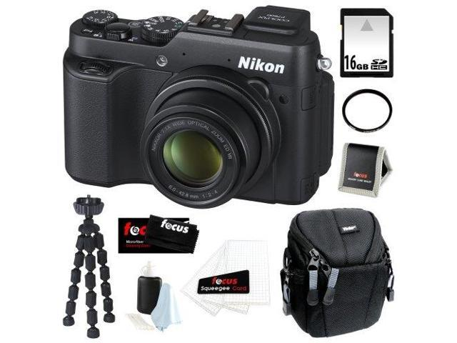 Nikon COOLPIX P7800 12.2MP Digital Camera with 7.1x Optical Zoom and 3-inch Vari-Angle LCD + 16GB SDHC + Tiffen UV Filter + Camera Case + ...