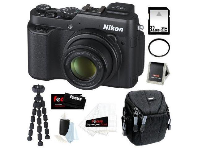 Nikon COOLPIX P7800 12.2MP Digital Camera with 7.1x Optical Zoom and 3-inch Vari-Angle LCD + 32GB SDHC + Tiffen UV Filter + Camera Case + ...