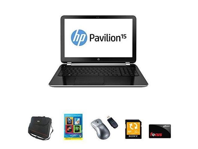 "HP Pavilion 15-n206nr AMD Quad-Core A6 15.6"" HD LED Win 8.1 (64-bit) with Accessories (Certified Refurbished)"