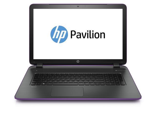 """HP Pavilion 17-f050nr, AMD Quad-Core A10, 8GB, 1TB HD, DVD, 17.3"""" HD+, Beats Audio, Win 8.1 (neon purple)"""