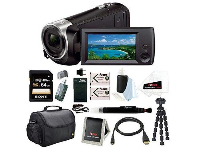 Sony HD Video Recording HDRCX405 HDR-CX405/B Handycam Camcorder (Black) + Sony 64GB Accessory Bundle