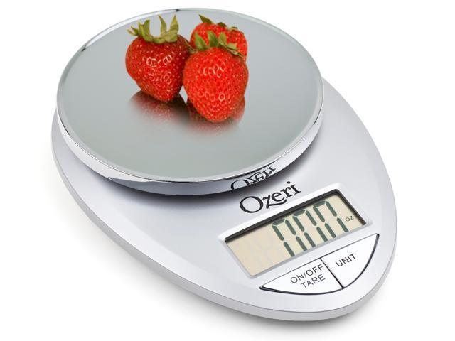 Ozeri Pro Digital Kitchen Food Scale, 1g to 12 lbs Capacity, in Elegant Chrome