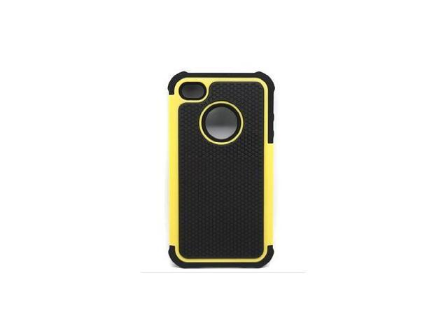 3 in 1 Protective Hybrid Hard Rubberized Silicone Case Featuring 3 Ultra Durable Layers for Extreme Protection For Apple iPhone 4 4G 4S Yellow