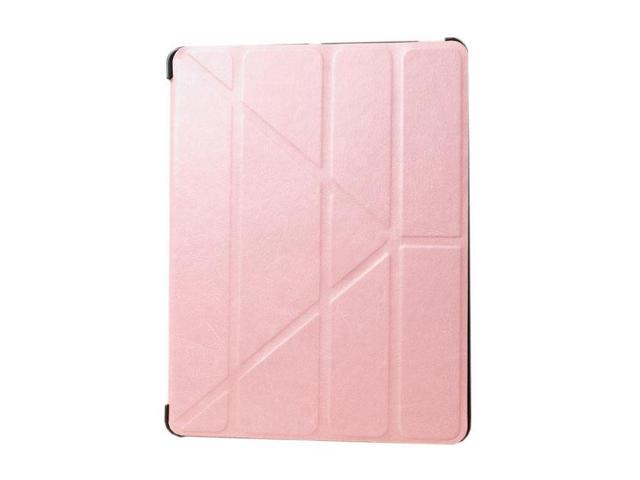 HJX Pink iPad Air Luxury Carzy Horse Grain Flip PU Leather Fold Stand Case Protective Cover for Apple iPad Air/iPad 5