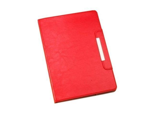 HJX Red iPad Air New Fashion Luxury Flip PU Leather Stand Case Protective Cover for Apple iPad Air/iPad 5