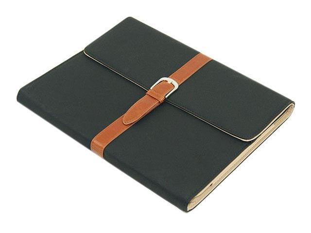HJX Black ipad Mini New Classic Retro Belt Buckle Design Flip Leather Stand Case Protective Cover for Apple ipad Mini