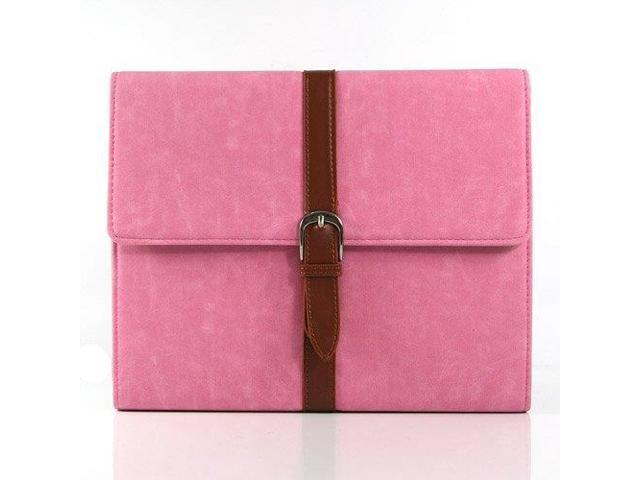 HJX Pink ipad Mini New Classic Retro Belt Buckle Design Flip Leather Stand Case Protective Cover for Apple ipad Mini