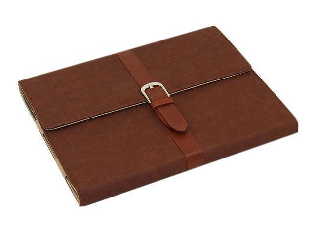 HJX Brown ipad Mini New Classic Retro Belt Buckle Design Flip Leather Stand Case Protective Cover for Apple ipad Mini