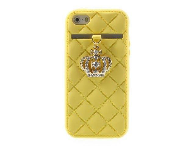 HJX Yellow Crown Style Silicone Case for iPhone 4 4G 4S
