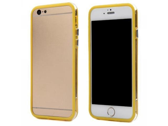 HJX Colorful Soft Silicone Hybrid Clear Hard PC TPU Bumper Frame For Apple iPhone 6 4.7 inch Yellow