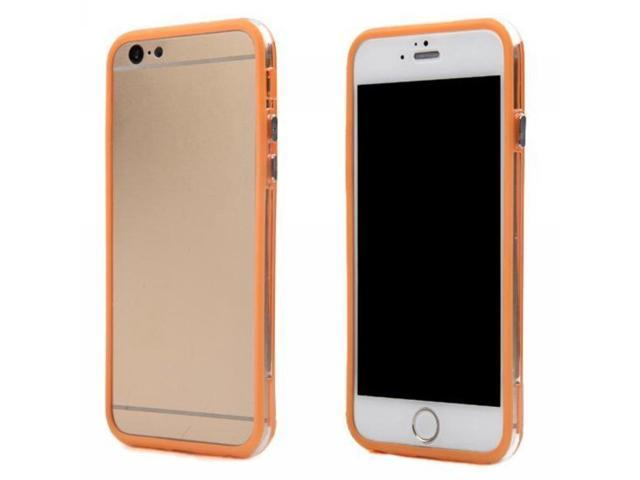 HJX Colorful Soft Silicone Hybrid Clear Hard PC TPU Bumper Frame For Apple iPhone 6 4.7 inch Orange