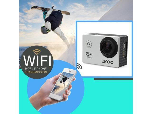 EKOO® E3 Full HD 1080P Sports Action Camera WIFI 12MP Waterproof Helmet Bike Camcorder SJ4000 Silver CEX102063